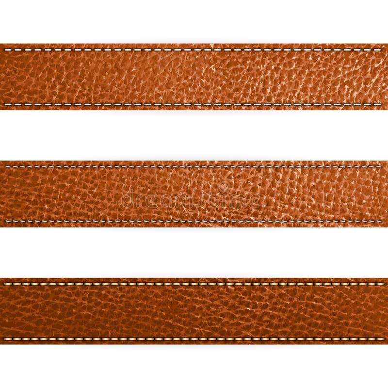 Modello marrone di cuoio di disegno di colore di vettore royalty illustrazione gratis