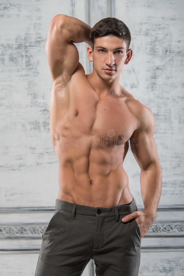 Modello maschio fotografie stock