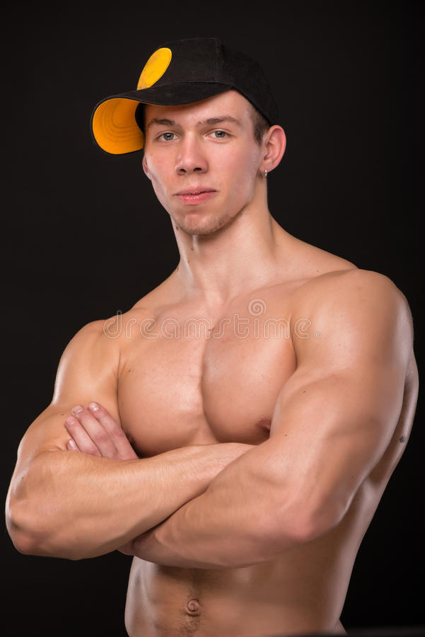 Modello maschio adatto immagine stock libera da diritti