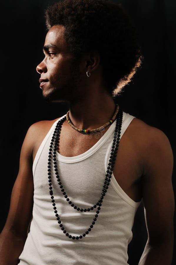 Modello maschio africano d'avanguardia fotografia stock