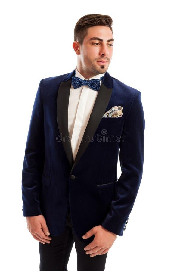 Modello maschio bello ed elegante immagine stock