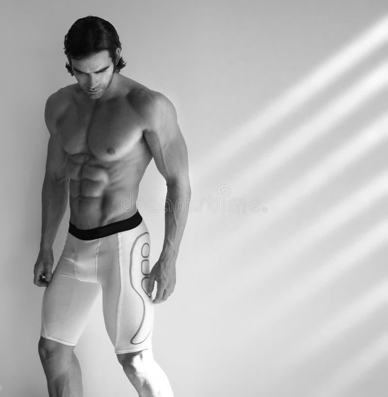Modello maschio caldo di forma fisica immagine stock