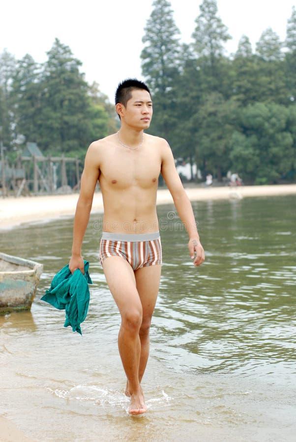 Modello maschio cinese immagini stock