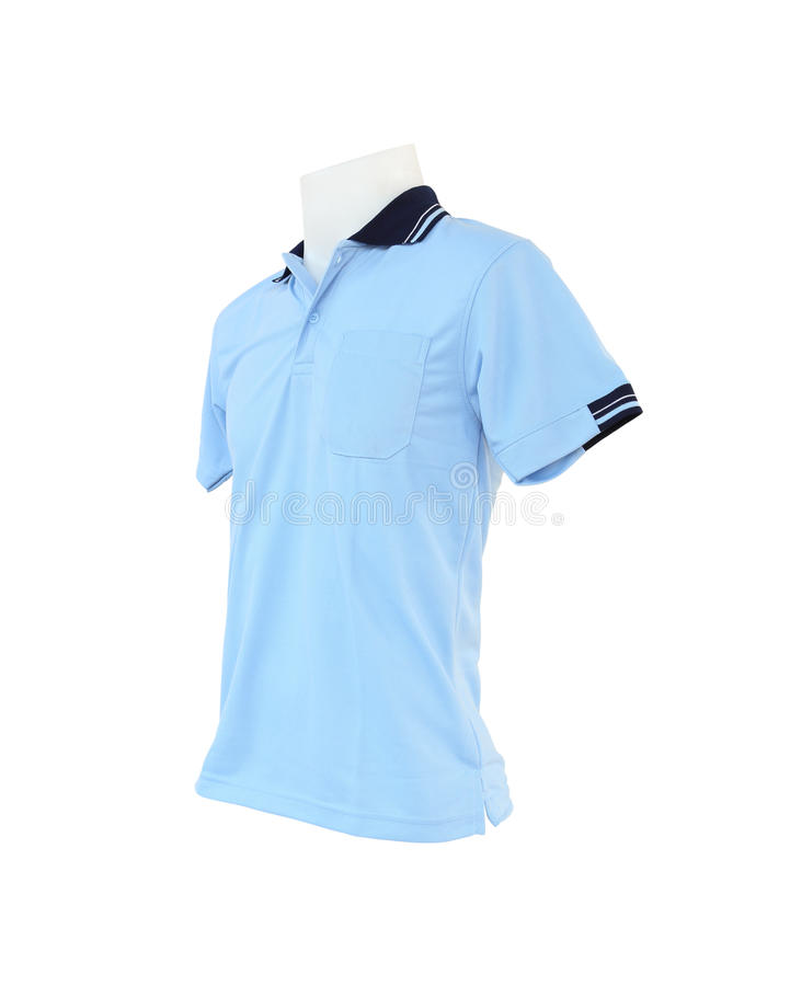 Modello maschio della camicia sul manichino su fondo bianco immagine stock