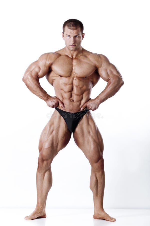 Modello maschio muscoloso fotografia stock