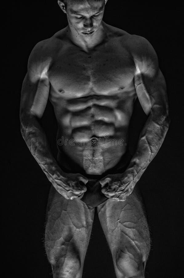 Modello maschio adatto fotografie stock libere da diritti