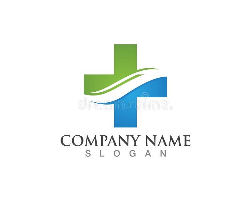Modello medico di progettazione di logo della farmacia illustrazione vettoriale