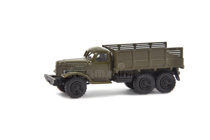 Modello miniatura del camion militare immagine stock libera da diritti