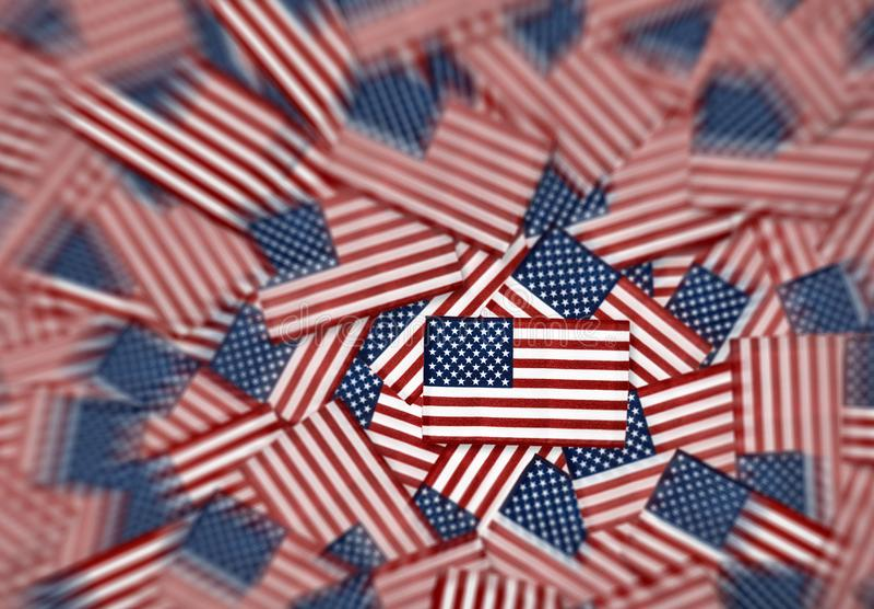 Modello miniatura del fondo delle bandiere americane immagine stock libera da diritti