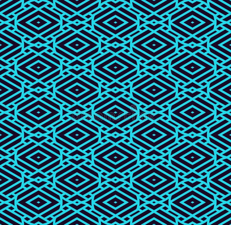 Modello minimalistic blu di lusso semplice geometrico con le linee Pu? essere usato come la carta da parati, il fondo o struttura illustrazione vettoriale