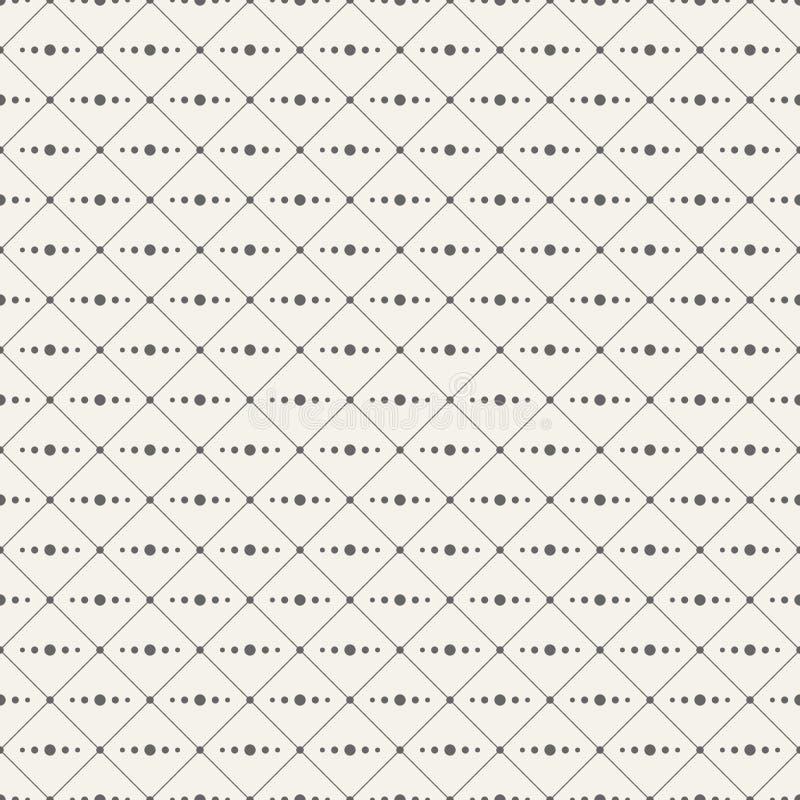 Modello minimalistic senza cuciture illustrazione vettoriale