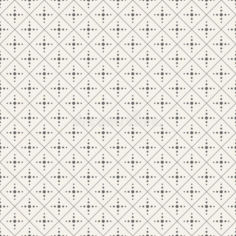 Modello minimalistic senza cuciture illustrazione di stock
