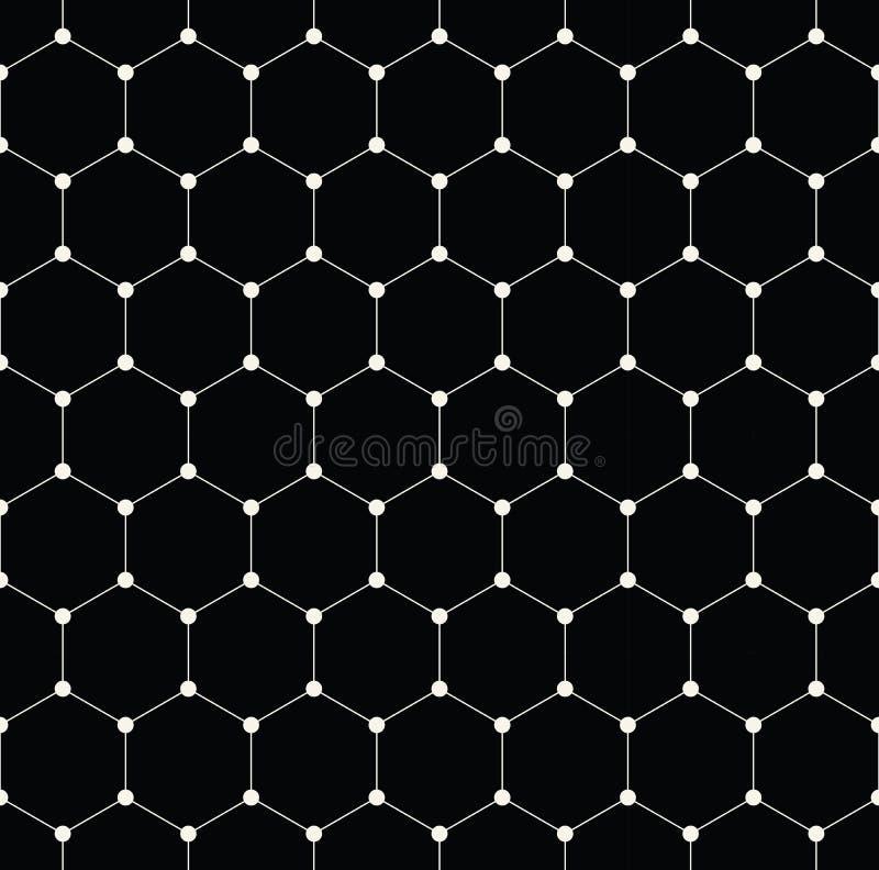 modello minimo del grafico di griglia di esagono geometrico fotografie stock libere da diritti
