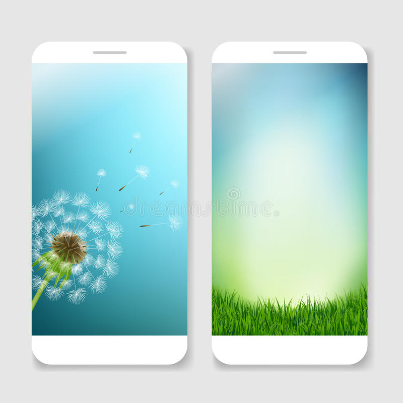 Modello mobile degli Smartphones illustrazione di stock