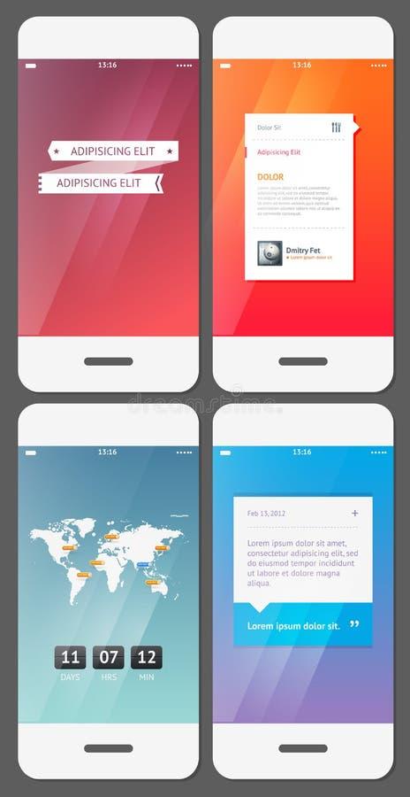 Modello mobile dell'interfaccia utente royalty illustrazione gratis