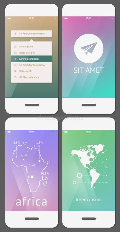 Modello mobile dell'interfaccia utente illustrazione di stock