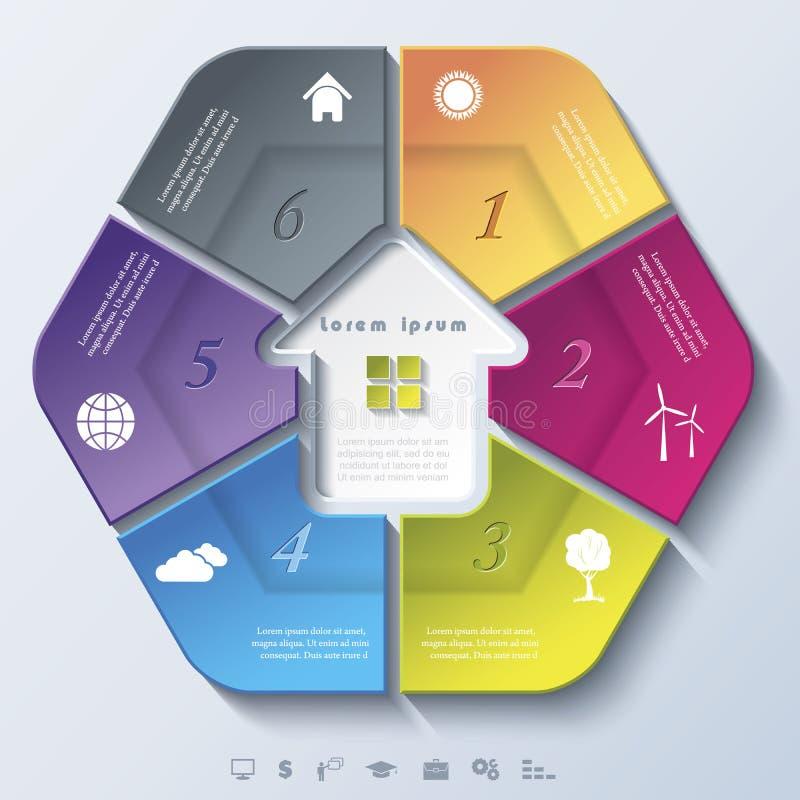 Modello moderno astratto per impresa immobiliare illustrazione di stock