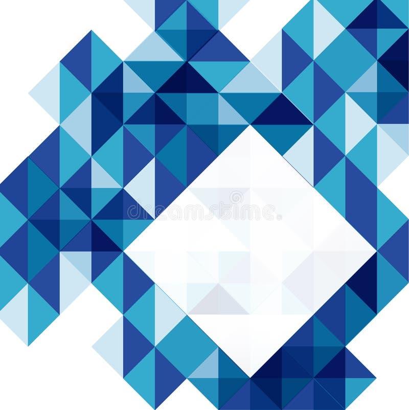 Modello moderno blu di progettazione geometrica illustrazione vettoriale