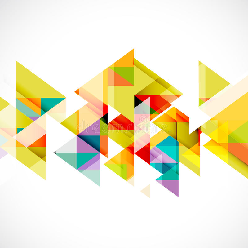 Modello moderno del triangolo astratto per la presentazione di tecnologia o di affari, il vettore & il illustratio illustrazione di stock
