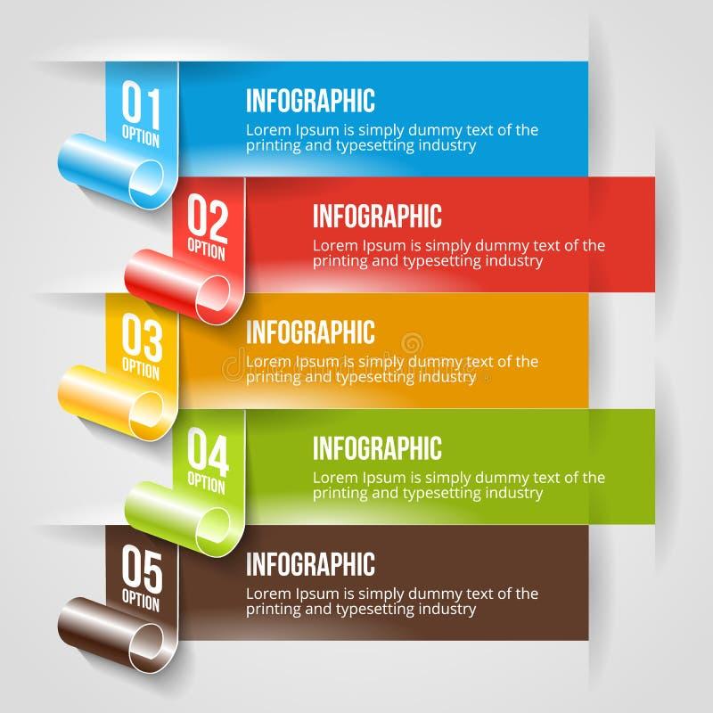 Modello moderno dell'insegna di opzioni e di Infographic illustrazione vettoriale