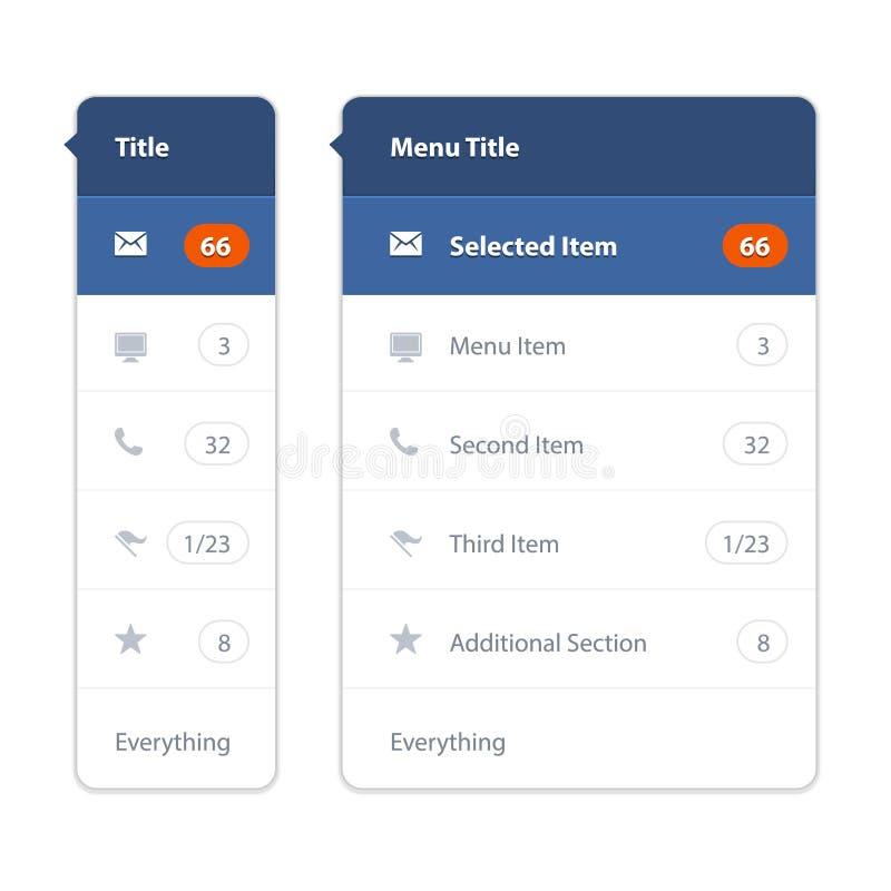 Modello moderno dello schermo dell'interfaccia utente per il cellulare illustrazione di stock