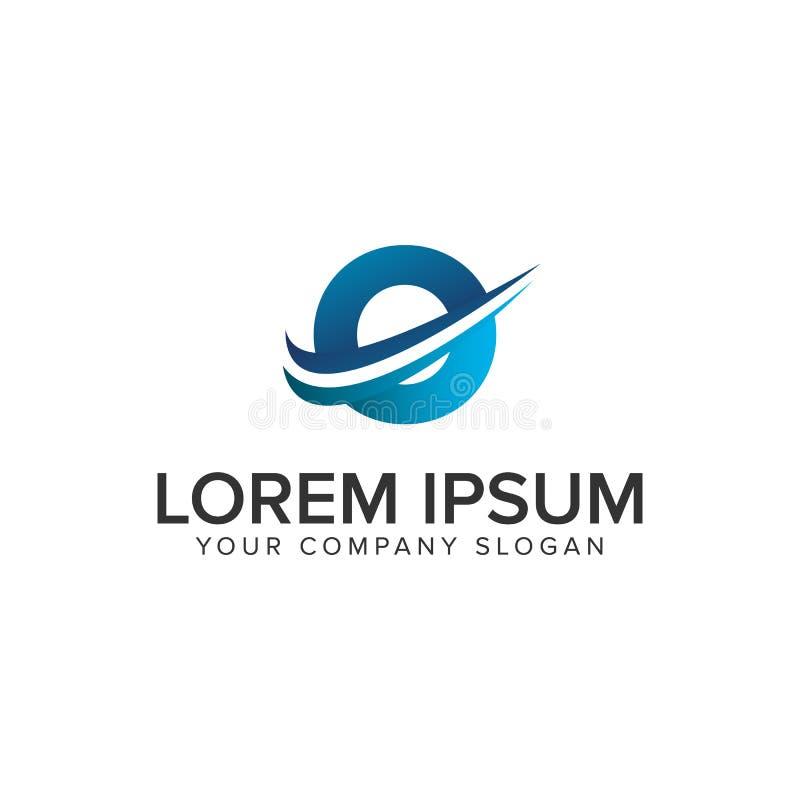 Modello moderno di concetto di progetto di logo della lettera O di Cative Completamente editable illustrazione di stock
