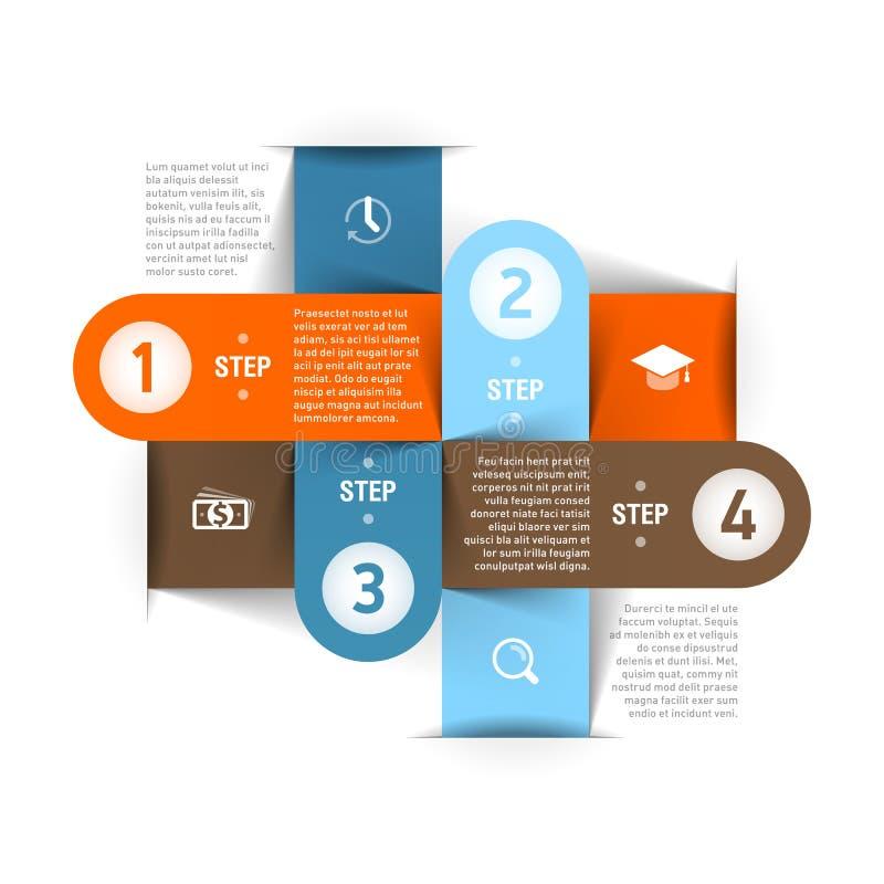 Modello moderno di infographics di affari royalty illustrazione gratis