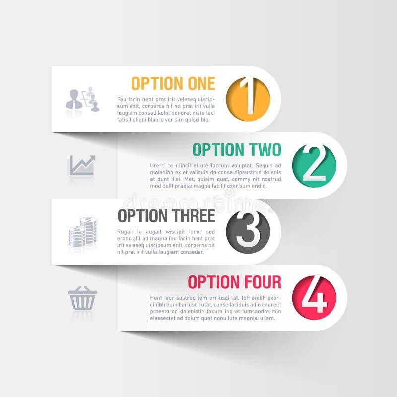 Modello moderno di infographics di affari illustrazione vettoriale