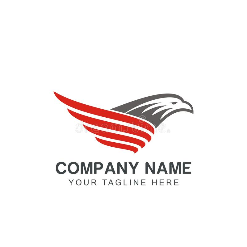 Modello moderno di ispirazione di progettazione di logo di Eagle illustrazione di stock