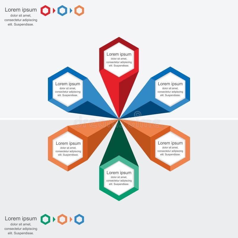 Modello moderno di processo di infographics, concetto di affari infographic royalty illustrazione gratis