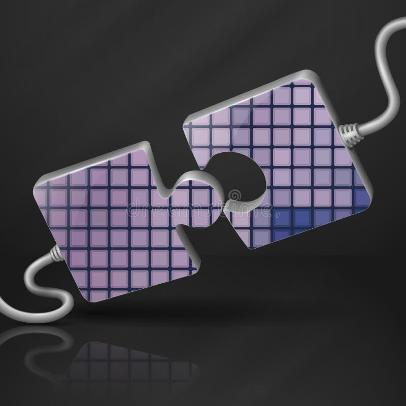 Modello moderno di puzzle illustrazione vettoriale