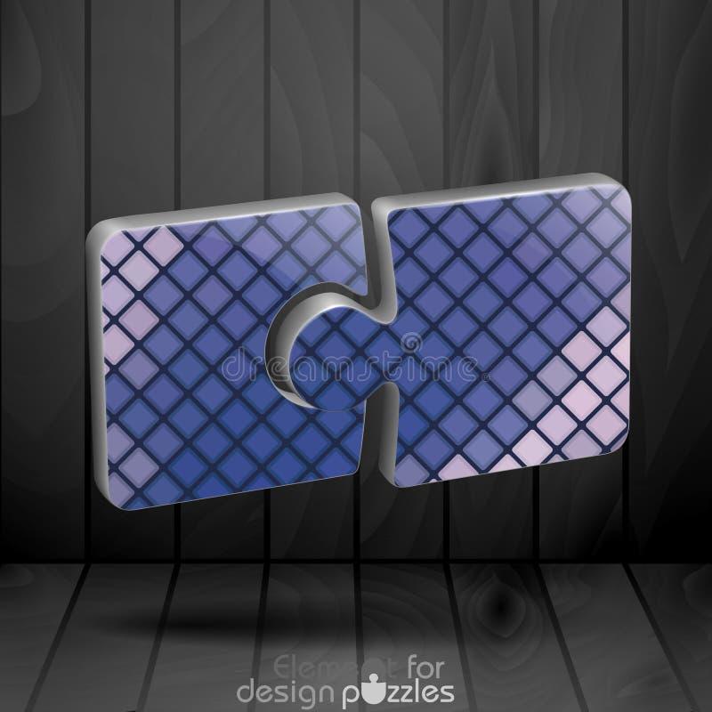 Modello moderno di puzzle royalty illustrazione gratis