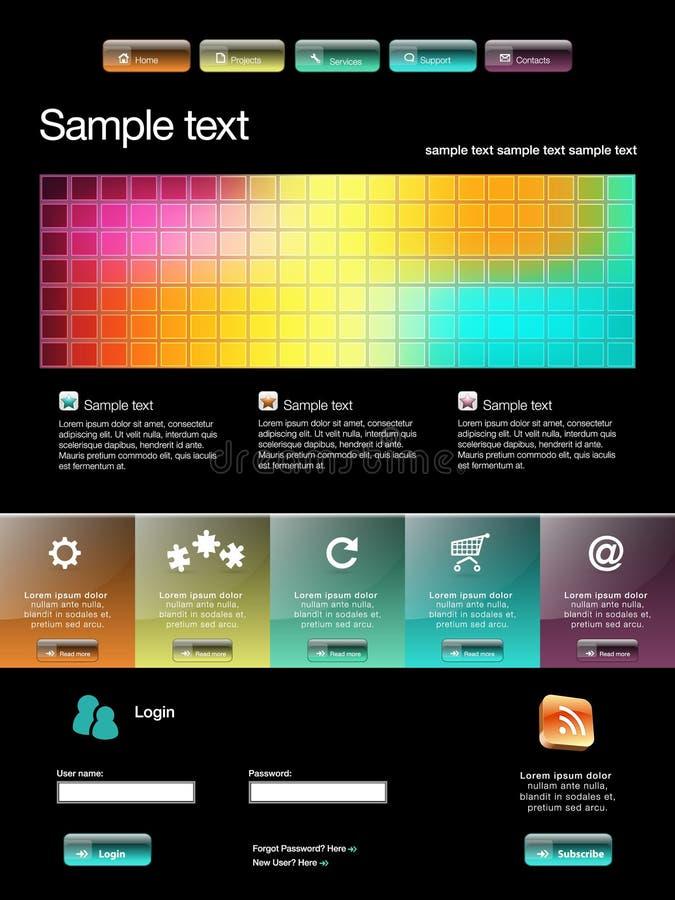 Modello moderno di Web site illustrazione di stock