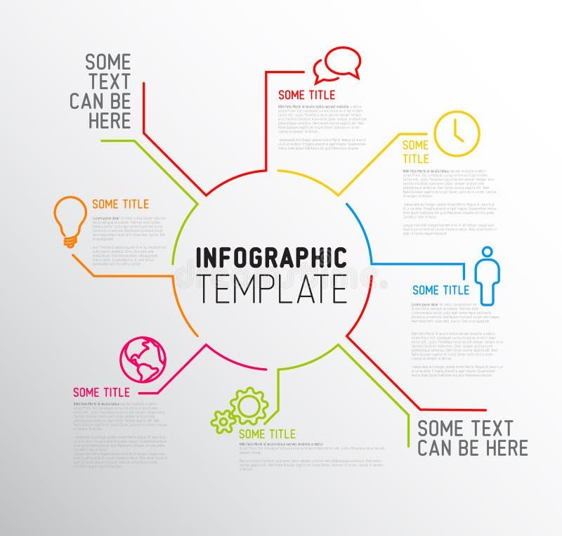 Modello moderno rapporto di Infographic fatto dalle linee illustrazione di stock