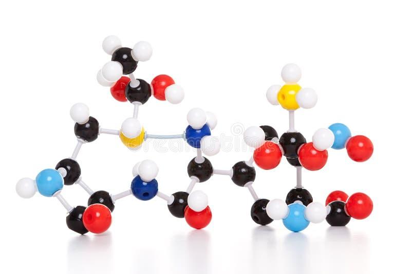 Modello molecolare dell'atomo fotografie stock