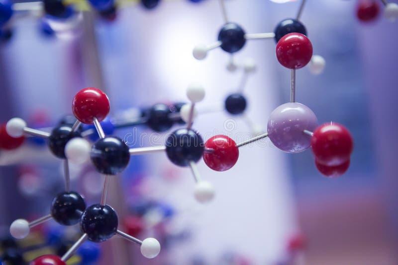 Modello molecolare Structure, concetto del DNA di scienza di affari immagini stock