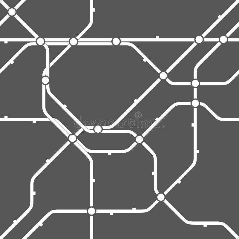 Modello monocromatico senza cuciture di schema del trasporto illustrazione vettoriale