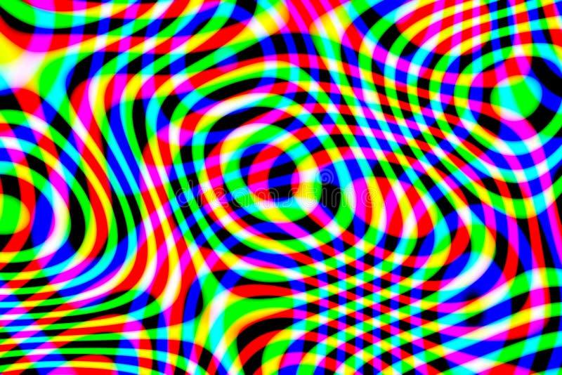 Modello multicolore astratto generato da computer su fondo nero immagine stock