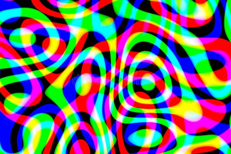 Modello multicolore astratto generato da computer su fondo nero fotografia stock