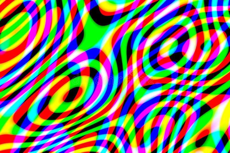 Modello multicolore astratto generato da computer su fondo nero fotografie stock