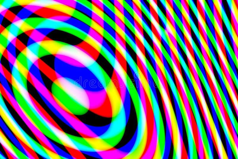 Modello multicolore astratto generato da computer su fondo nero immagini stock