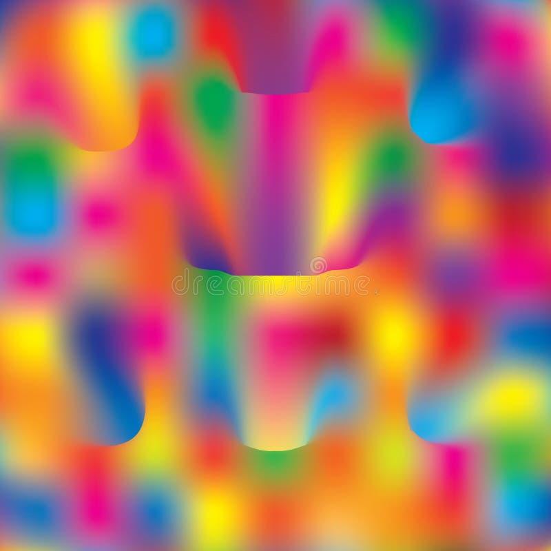 Modello multicolore di vettore di concetto creativo di immagine dell'estratto royalty illustrazione gratis