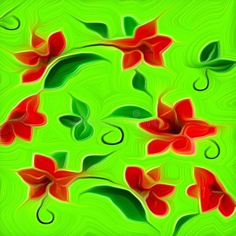 Modello multicolore fantastico della pittura dell'autunno illustrazione vettoriale