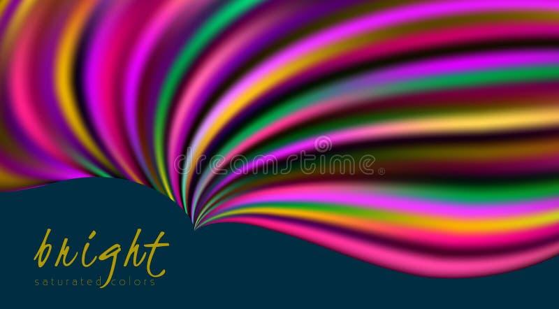 Modello multicolore luminoso con forma ondulata variopinta vibrante royalty illustrazione gratis