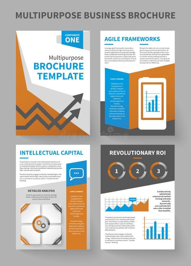 Modello multiuso dell'opuscolo di affari corporativi illustrazione di stock
