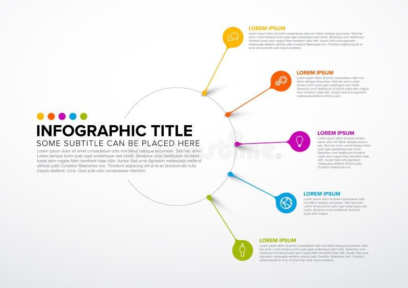 Modello multiuso di Infographic di vettore illustrazione vettoriale