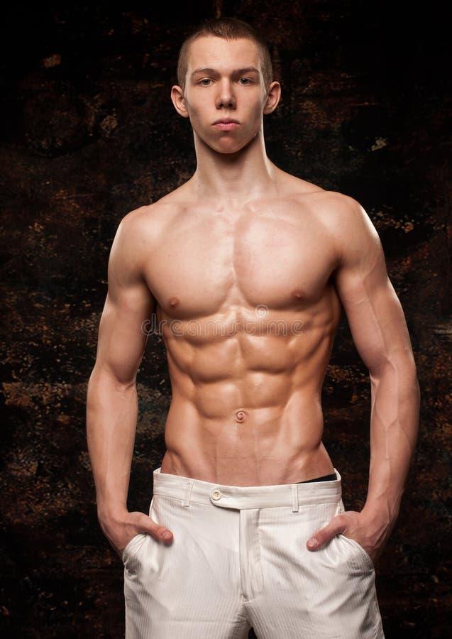 Modello muscolare fotografia stock