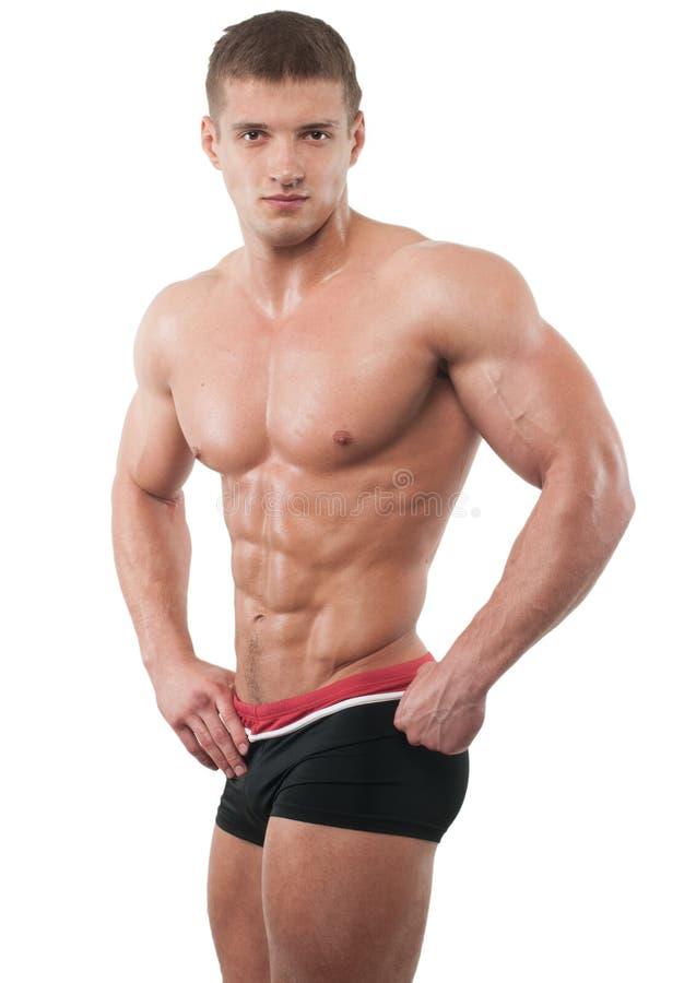 Modello muscoloso fotografie stock