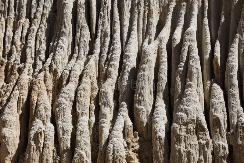 Modello naturale dell'argilla della corrente del fatato del canyon fotografie stock libere da diritti