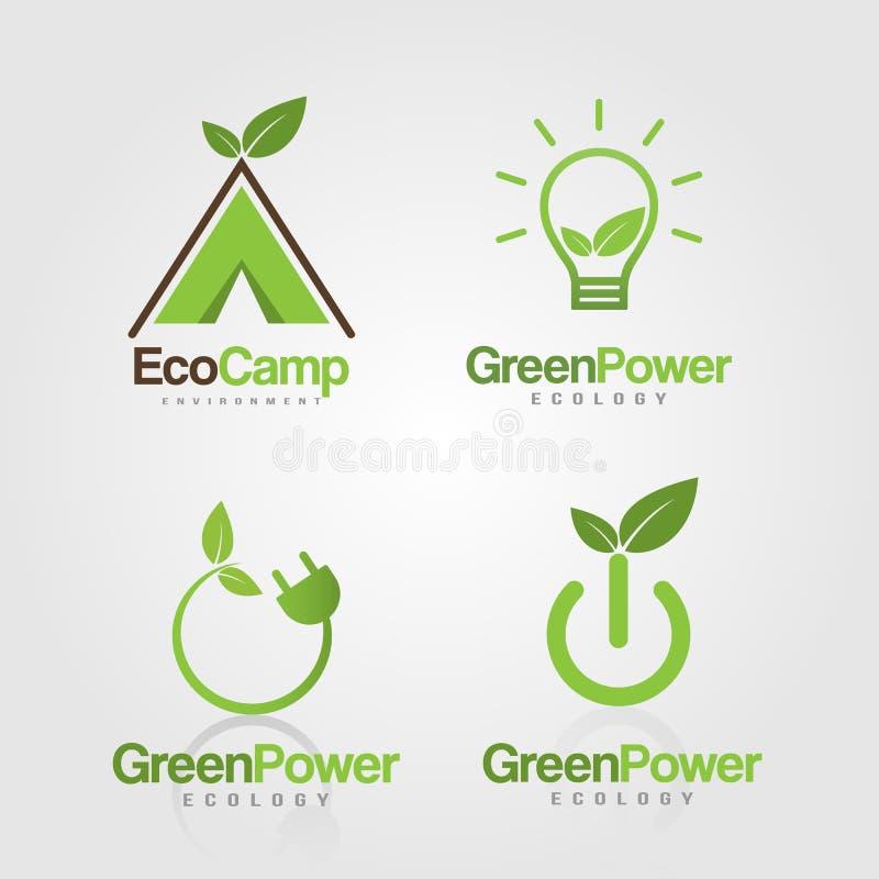 Modello naturale di logo di ecologia fotografia stock libera da diritti